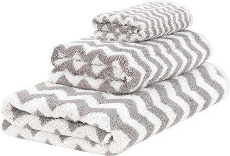 Set 3 asciugamani con motivo a zigzag Liv