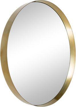 Ronde wandspiegel Metal met goudkleurige lijst