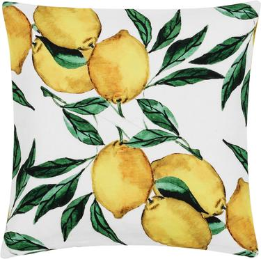 Kussenhoes Citrus met citroen patroon