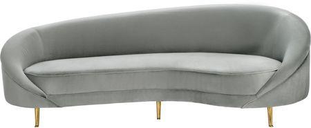Canapé haricot en velours Gatsby (3places)