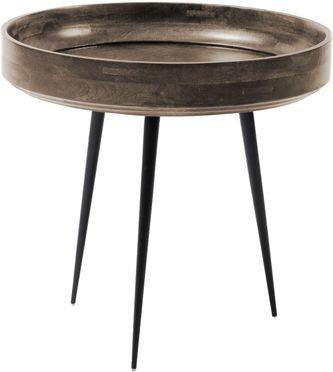 Kleine design bijzettafel Bowl Table van mangohout