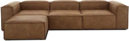 Canapé d'angle modulable en cuir Lennon