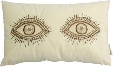 Fluwelen kussen Eyes met borduurwerk, met vulling