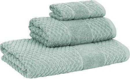 Set 3 asciugamani con motivo a nido d'ape Katharina