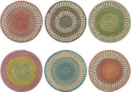 Ronde placematsset Mexico van natuurvezels, 6-delig