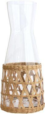 Handgemaakte karaf Wicker met decoratieve vlechtwerk