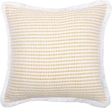 Coussin jaune/blanc Salamanca