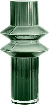 Vaso in vero Rilla, Vetro, Verde, Ø 9 x Alt. 32 cm