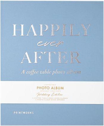 Album fotografico Happily Ever After, Blu, bianco, argento, nero, Lung. 32 x Larg. 26 cm