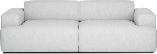 Sofa Marshmallow (3-Sitzer), Bezug: Polyester 35.000 Scheuert, Gestell: Massives Kiefernholz, Spa, Füße: Kiefernholz, Webstoff Hellgrau, B 240 x T 101 cm