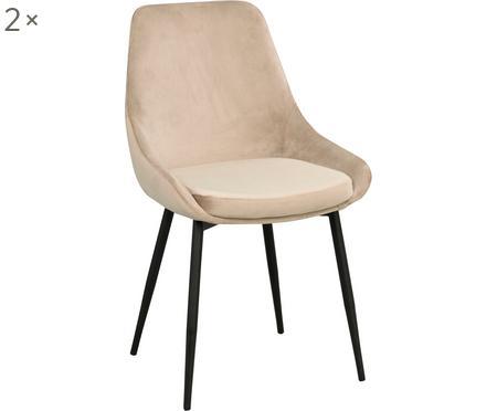 Fluwelen stoelen Sierra, 2 stuks