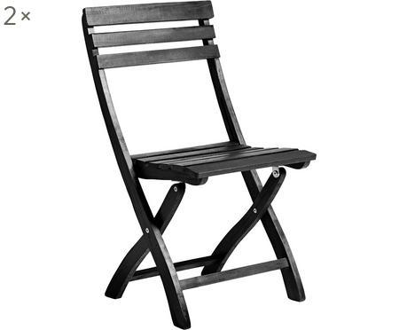 Składane krzesło ogrodowe z drewna Clarish, 2 szt.