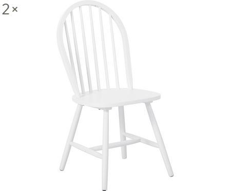 Krzesło z drewna w stylu windsor Jonas, 2 szt.
