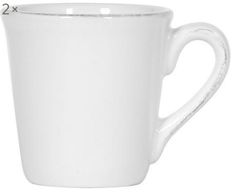 Espressotassen Constance in Weiß, 2 Stück