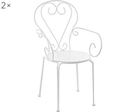 Garten-Armlehnstühle Etienne aus Metall, 2 Stück