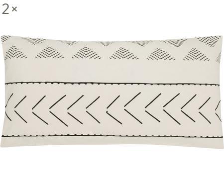 Gewaschene Baumwoll-Kissenbezüge Kohana im Boho Style, 2 Stück