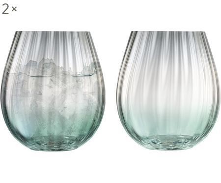 Handgefertigte Wassergläser Dusk mit Farbverlauf, 2er-Set