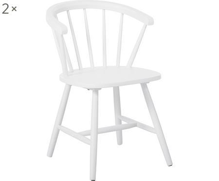 Krzesło z podłokietnikami z drewna Megan, 2 szt.