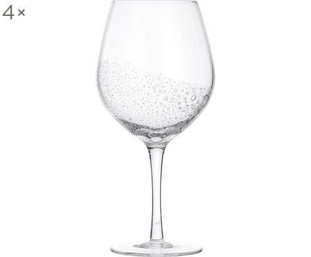 Bicchiere da vino rosso in vetro soffiato Bubble 4 pz