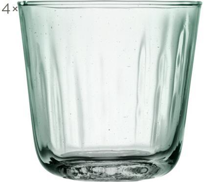 Verres à eau avec embossage Mia, 4pièces