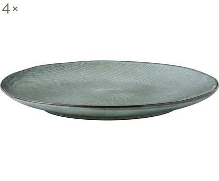 Assiettes plates faites main Nordic Sea, 4 pièces