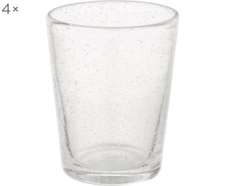 Mundgeblasene Wassergläser Bubble mit Lufteinschlüssen, 4er-Set