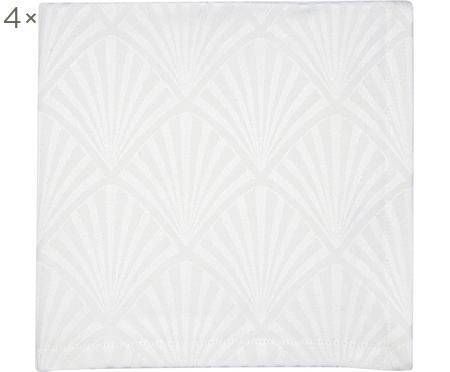 Serviettes de table en coton avec motif Art Déco Celine, 4pièces