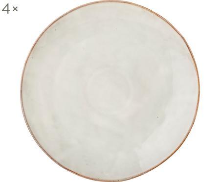 Handgemachte Platzteller Nordic Sand, 4 Stück
