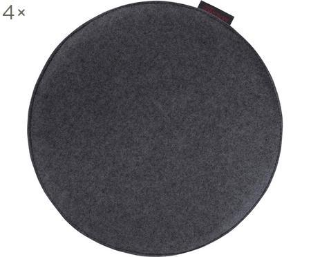 Okrągła poduszka na siedzisko z filcu Avaro, 4 szt.