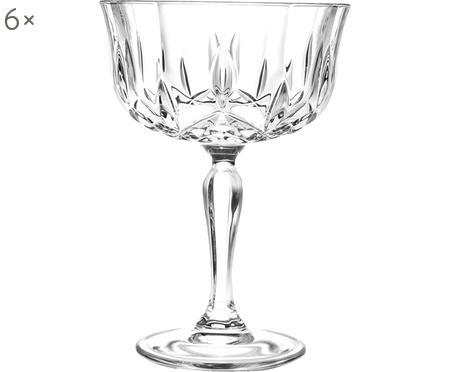 Copas pompadour de champán de cristal Opera, 6uds.