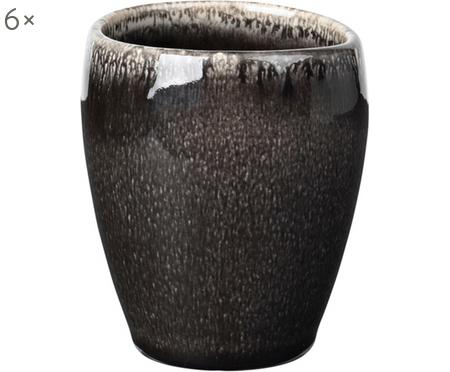 Tazze da caffè fatte a mano Nordic Coal, 6 pz.