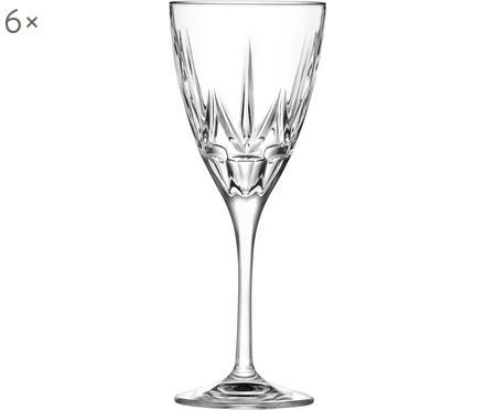 Bicchiere da vino rosso in cristallo Chic 6 pz