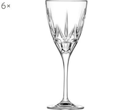 Kristall-Weißweingläser Chic mit Relief, 6er-Set