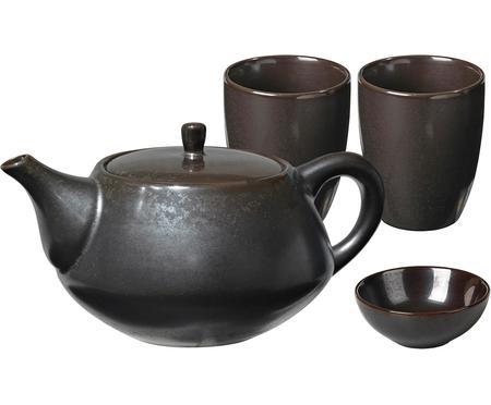 Servizio da tè fatto a mano Esrum Night, 4 pz.