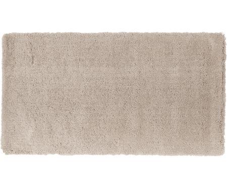 Pluizig hoogpolig vloerkleed Leighton in beige