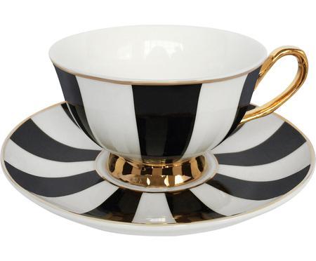 Filiżanka do herbaty ze spodkiem Stripy