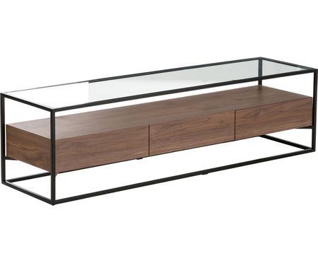 Tv-meubel Helix met glazen tafelblad