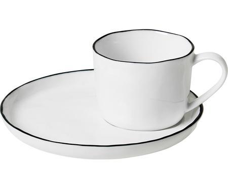 Ręcznie wykonana filiżanka do espresso ze spodkiem Salt