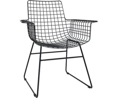 Design armstoel Wire van metaal