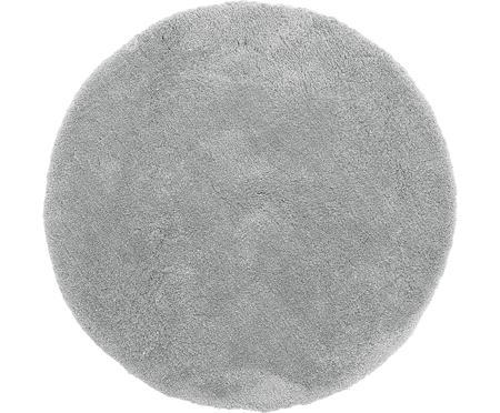 Okrągły puszysty dywan z wysokim stosem Leighton