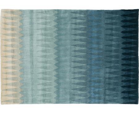 Ručně tkaný vlněný koberec s barevným přechodem Acacia