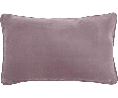 Federa arredo in velluto in rosa cipria Dana
