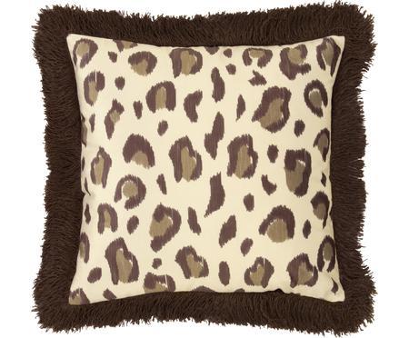 Housse de coussin en velours imprimé léopard Bonzo