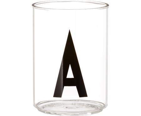 Verre à eau avec lettres design Personal (variantes allant de AàZ)