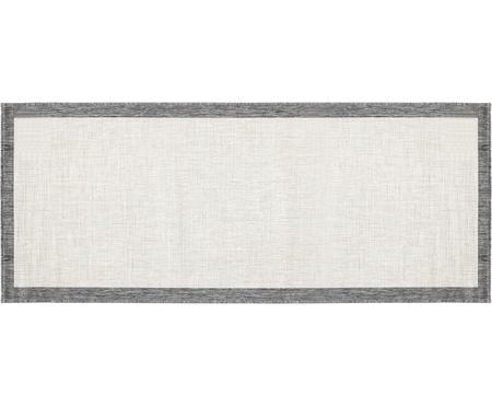 Tapis réversible intérieur-extérieur gris/crème Panama