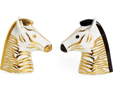 Designer Salz- und Pfefferstreuer Animalia,vergoldet, 2er-Set