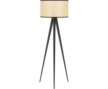 Stehlampe Vienna mit Schirm aus Wiener Geflecht