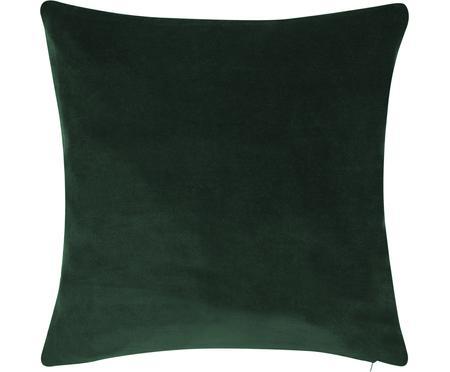 Housse de coussin en velours vert émeraude Alyson
