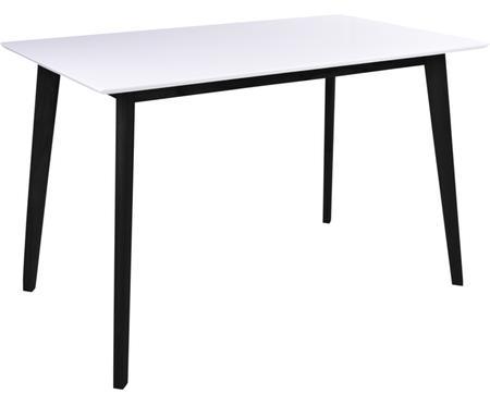 Esstisch Vojens mit weißer Tischplatte