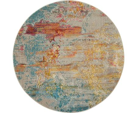 Rond design vloerkleed Celestial in kleur